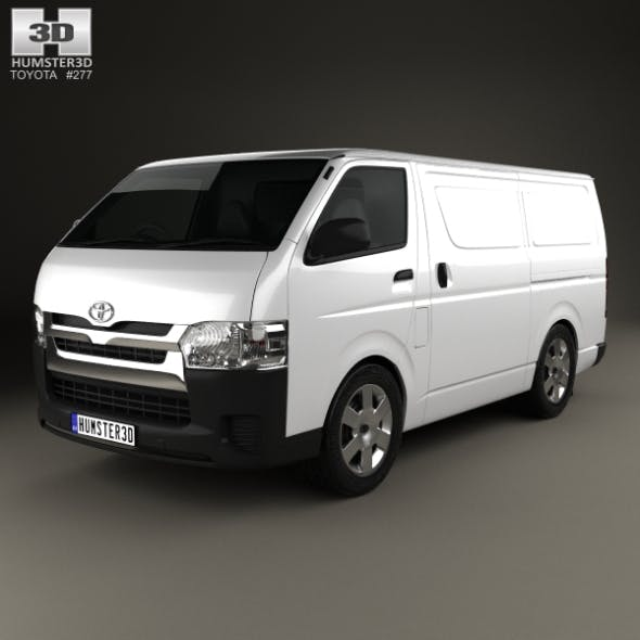 Toyota HiAce SWB Panel Van 2013 - 3DOcean Item for Sale