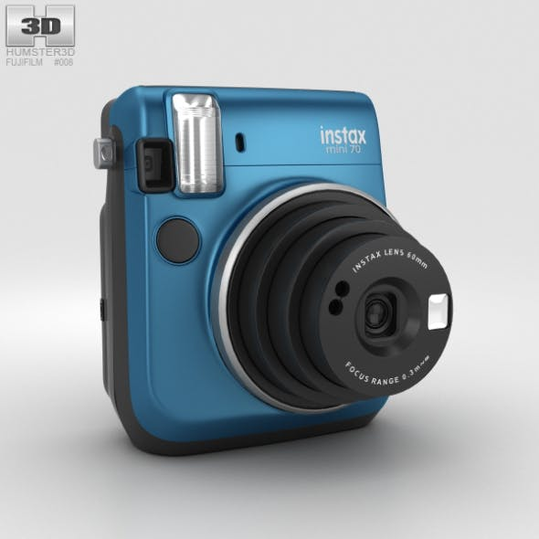 Fujifilm Instax Mini 70 Blue - 3DOcean Item for Sale