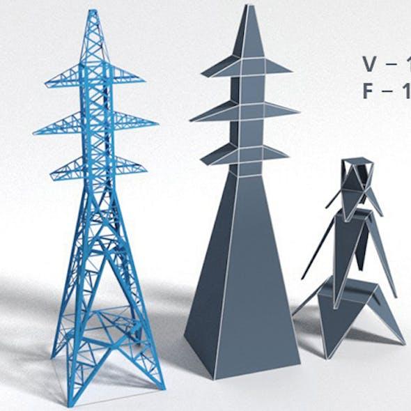 mast of power lines