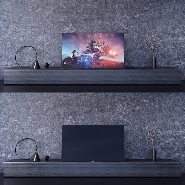 SONY A1 OLED 4K Ultra HD and STAND - 3DOcean Item for Sale