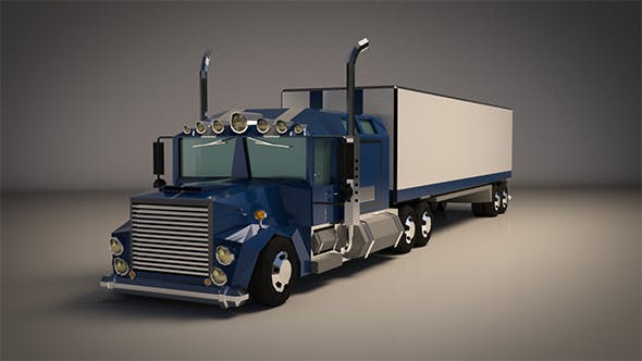 Low-Poly Cartoon Lorry Truck - 3DOcean Item for Sale