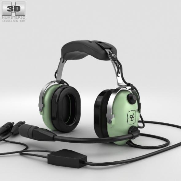David Clark Standard Aviation Headsets - 3DOcean Item for Sale