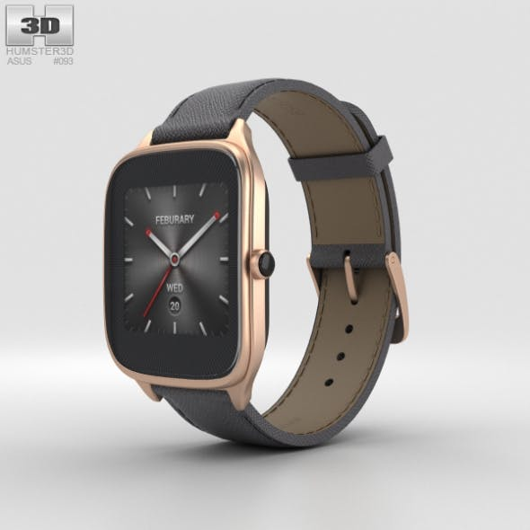 Asus Zenwatch 2 1.63-inch Rose Gold Case Taupe Leather Band - 3DOcean Item for Sale