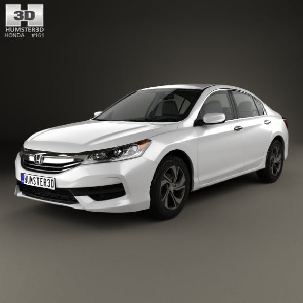 Honda Accord LX with HQ interior 2016 - 3DOcean Item for Sale
