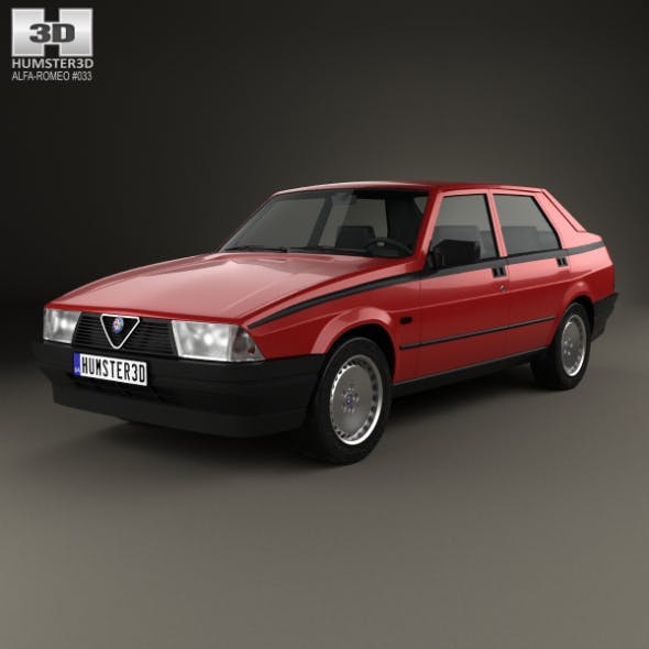 Alfa Romeo 75 1985 - 3DOcean Item for Sale