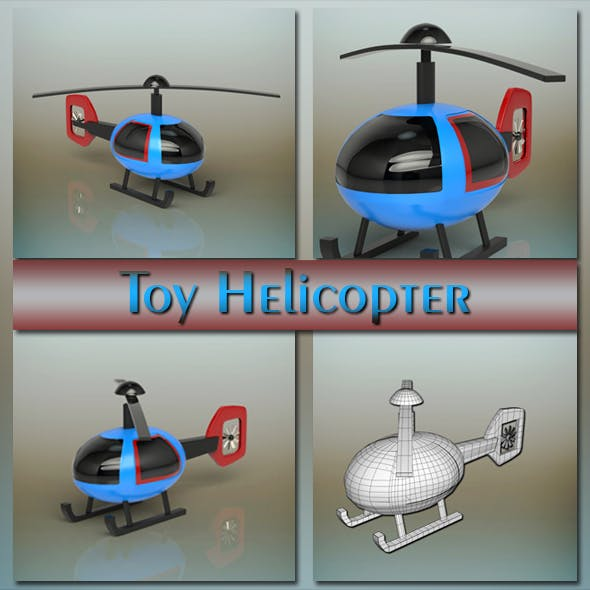 Toy Helicopter - 3DOcean Item for Sale