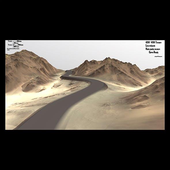 terrain road 1 - 3DOcean Item for Sale