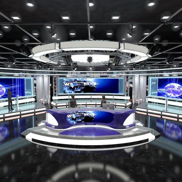 Virtual TV Studio News Set 1 - 3DOcean Item for Sale
