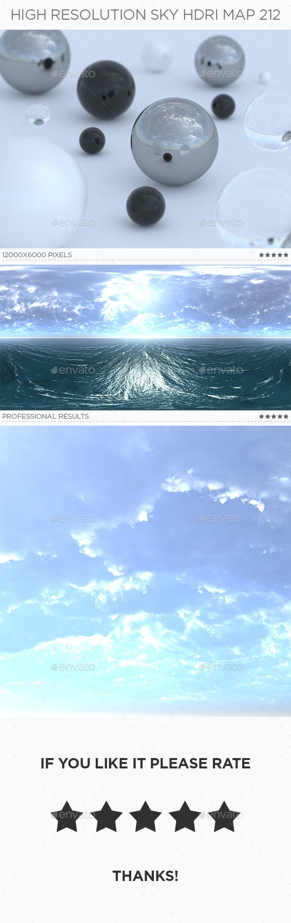 High Resolution Sky HDRi Map 212 - 3DOcean Item for Sale