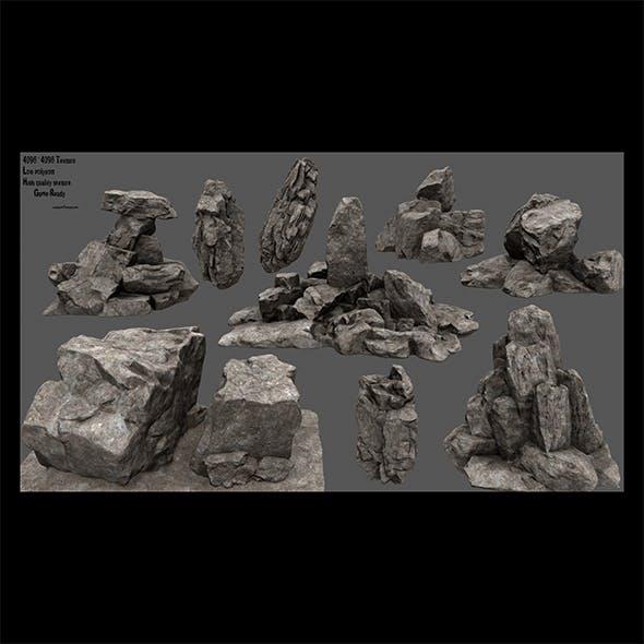 desert rocks - 3DOcean Item for Sale