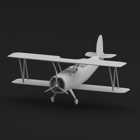 Biplane - 3DOcean Item for Sale