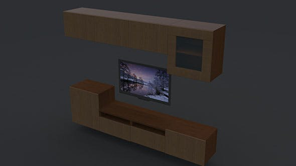 Tv furniture - 3DOcean Item for Sale