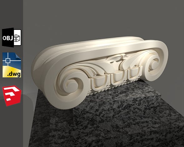 Grecian Classic 3D Model For Sketchup Pack 2 - 3DOcean Item for Sale