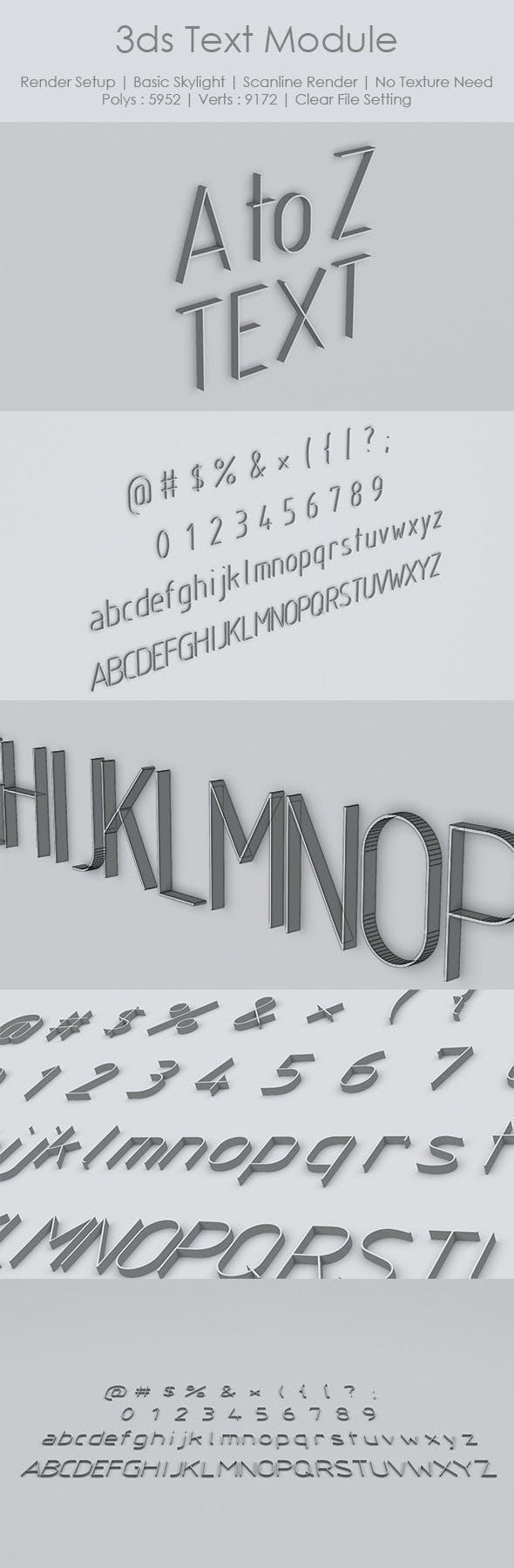 3ds Text Module - 3DOcean Item for Sale