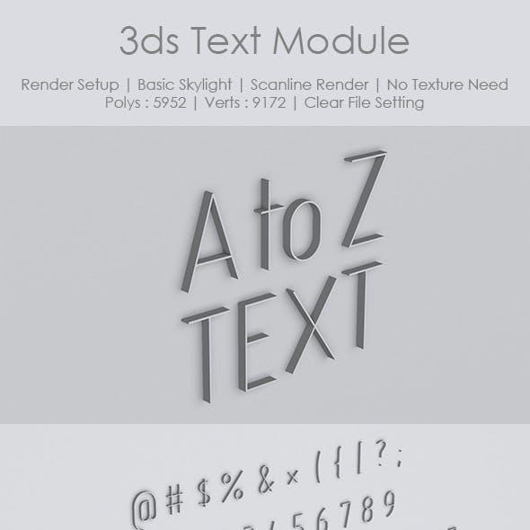 3ds Text Module