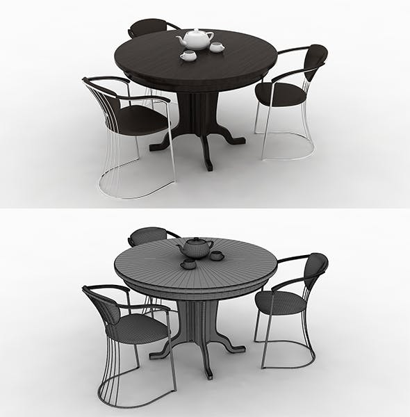 High quality tables & chairs - 3DOcean Item for Sale