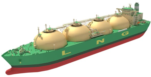 LNG Carrier Moss Type - 3DOcean Item for Sale