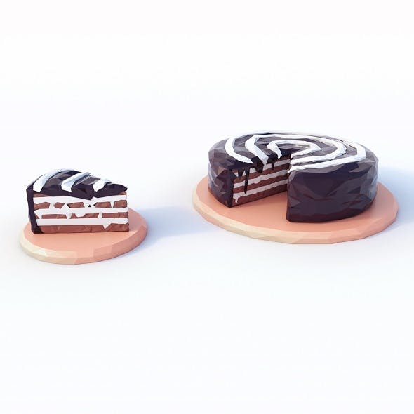 Cake Low Poly - 3DOcean Item for Sale