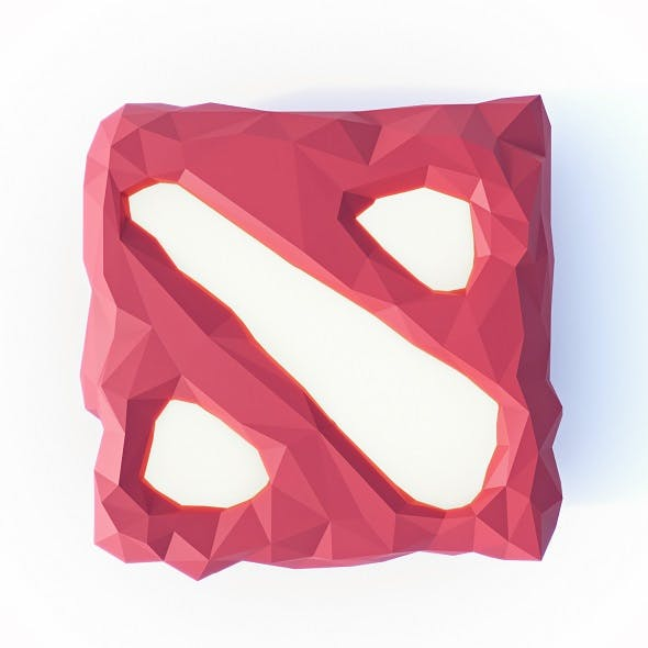 Dota 2 Logo Low Poly - 3DOcean Item for Sale