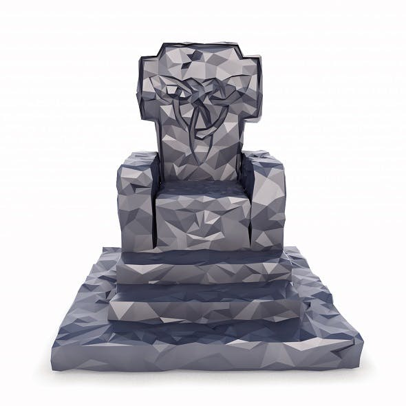 Throne Low Poly - 3DOcean Item for Sale