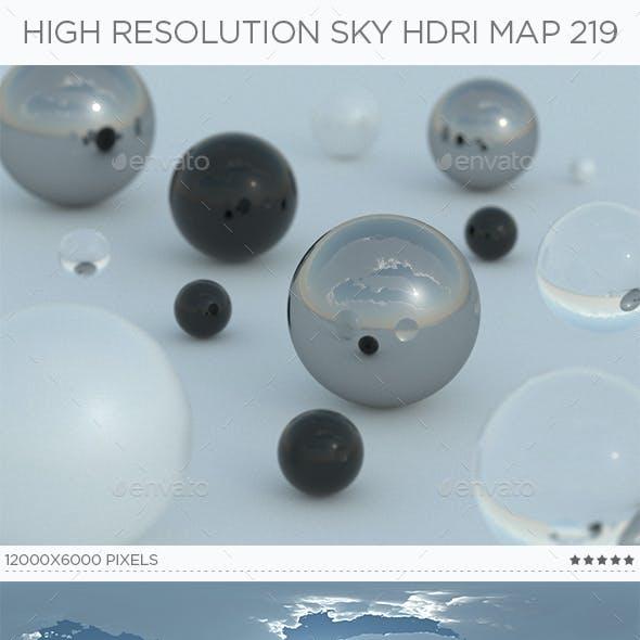 High Resolution Sky HDRi Map 219