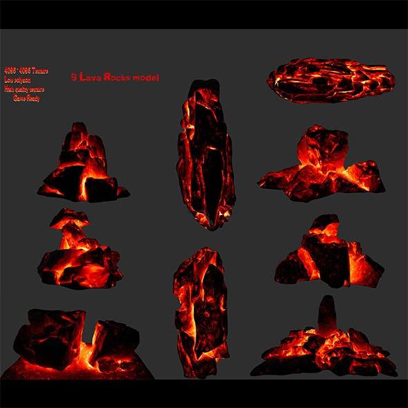 lava rocks - 3DOcean Item for Sale