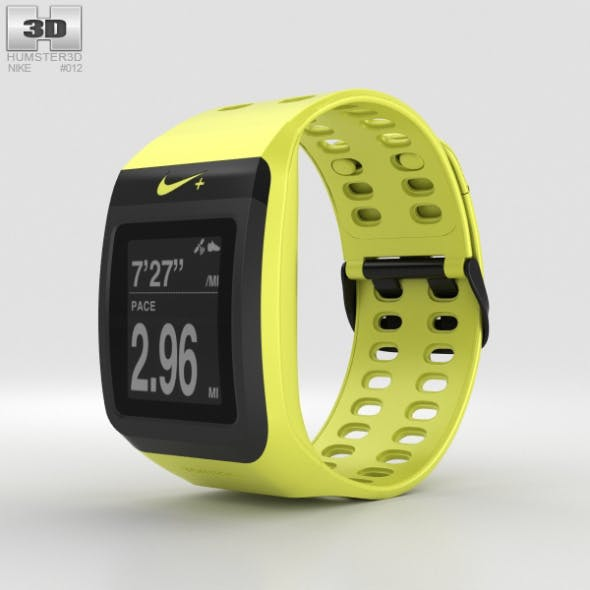 Nike+ SportWatch GPS Volt/Black - 3DOcean Item for Sale