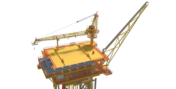 Offshore Wellhead Platform - 3DOcean Item for Sale