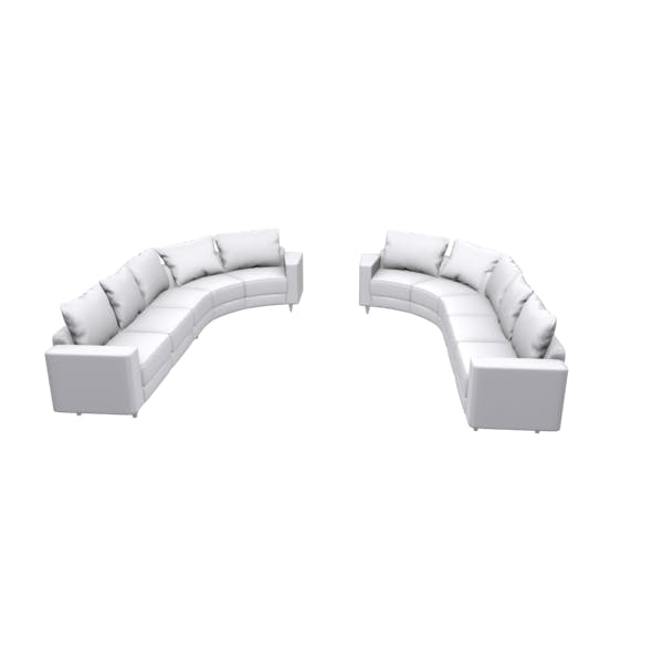 U shape sofa - 3DOcean Item for Sale