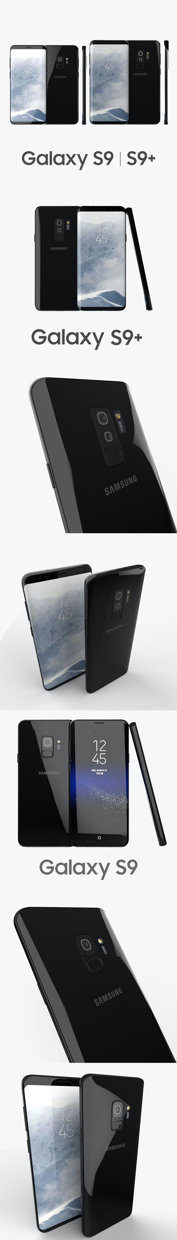 Samsung Galaxy S9, S9+ Black - 3DOcean Item for Sale