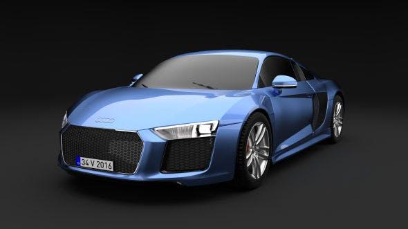 Audi R8 V10 2016 - 3DOcean Item for Sale