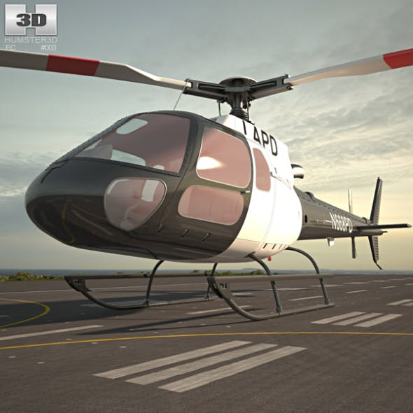 Eurocopter AS350 - 3DOcean Item for Sale
