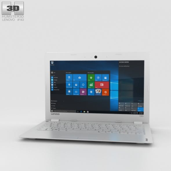 Lenovo Ideapad 100S White - 3DOcean Item for Sale