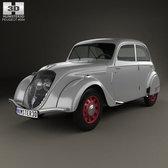 Peugeot 202 Berline 1938 - 3DOcean Item for Sale