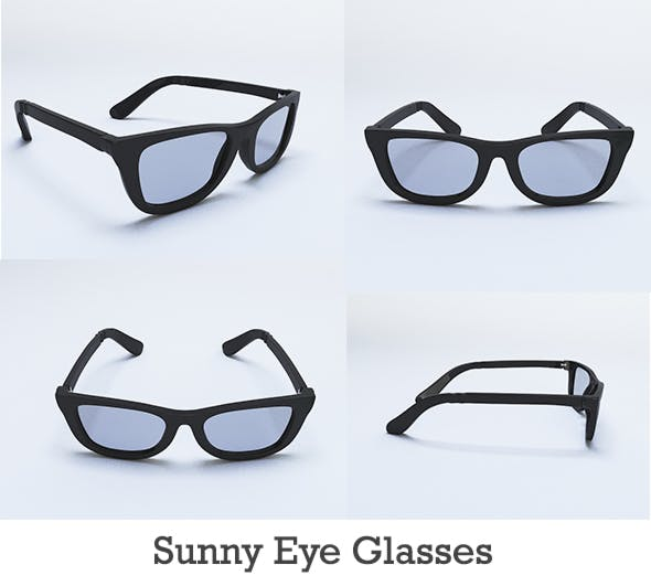 Sunny Eye Glass - 3DOcean Item for Sale