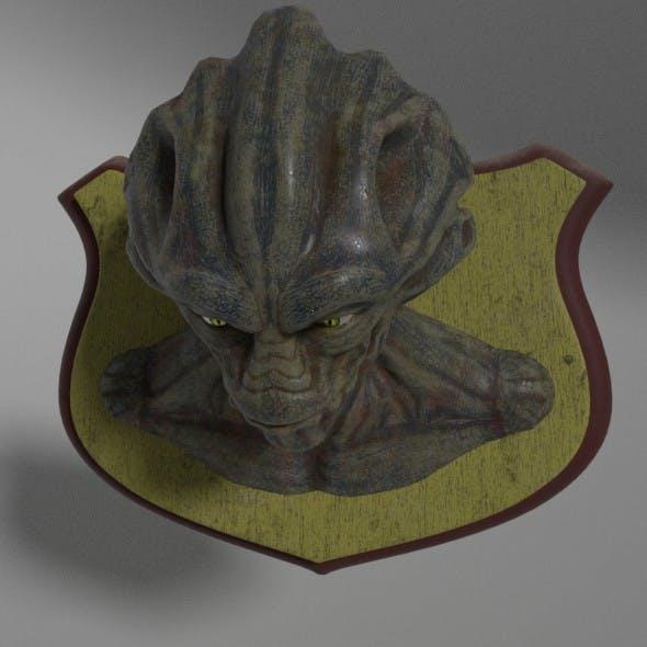 Alien Head Trophy - 3DOcean Item for Sale
