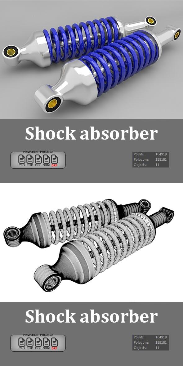 Shock absorber 3D Model - 3DOcean Item for Sale