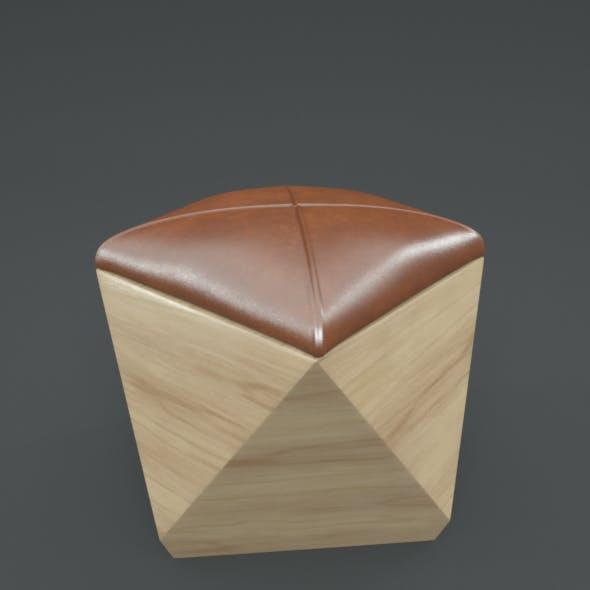 Hexagon Wood Ottoman-Chair