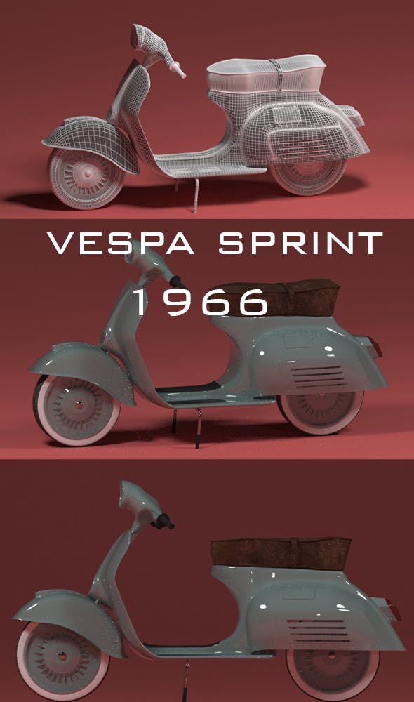 moped Vespa Sprint 125 - 3DOcean Item for Sale