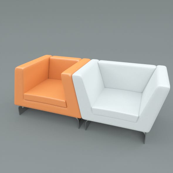 Modern Lounge Chair Set - 3DOcean Item for Sale