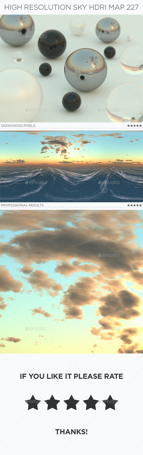High Resolution Sky HDRi Map 227 - 3DOcean Item for Sale