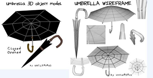 Umbrella 3D object model - 3DOcean Item for Sale