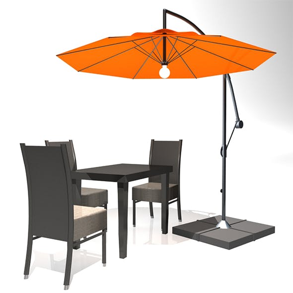 Outdoor Patio Cantilever Umbrella - 3DOcean Item for Sale