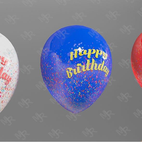 Balloons 3D Pack Textured