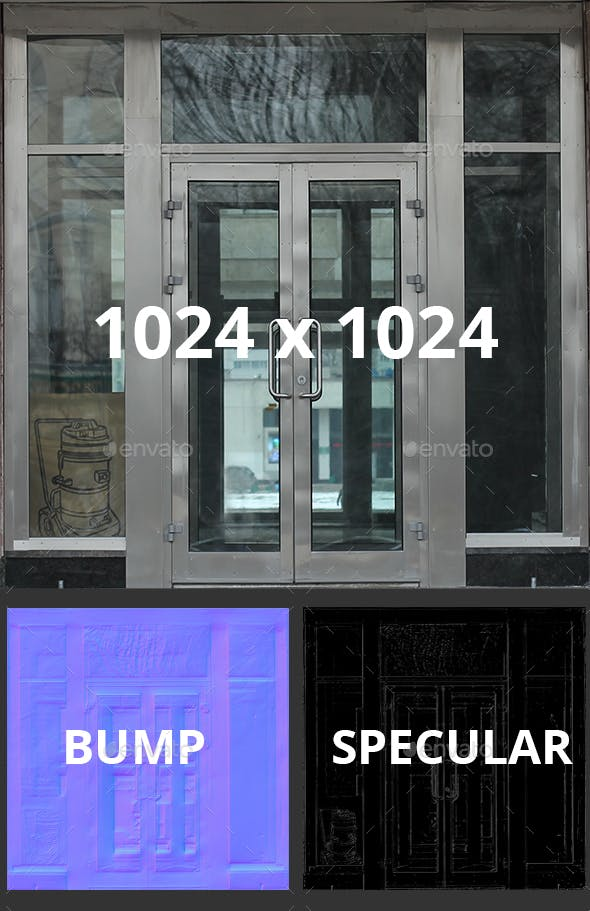 Office Glass Doors - 3DOcean Item for Sale