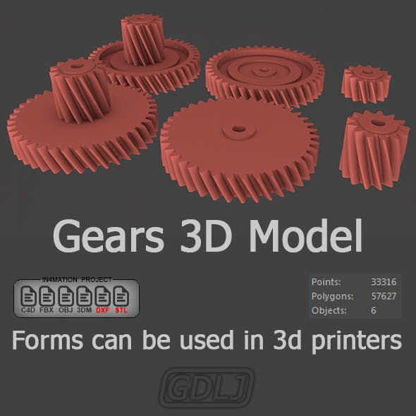 Gears 3D Models