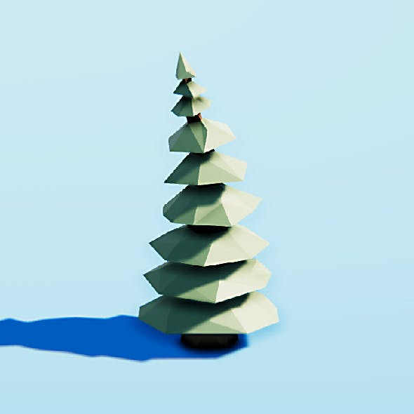 Spruce tree with bones