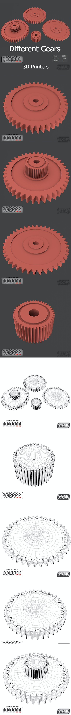 Different Gears 3D Models - 3DOcean Item for Sale
