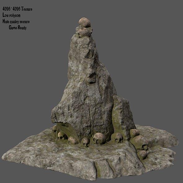 skull stone 1 - 3DOcean Item for Sale