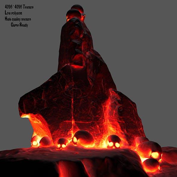 lava skull - 3DOcean Item for Sale